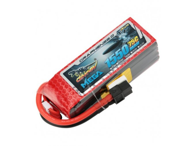 dinogy mega graphene 4s 1550mah 75c lipo battery
