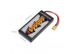 2 6S LiPo Battery Parallel Charging Adapter Board XT60 Plug Balance Plate for Imax B6 B6AC
