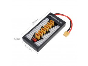 2 6S LiPo Battery Parallel Charging Adapter Board XT60 Plug Balance Plate for Imax B6 B6AC