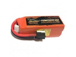 dinogy graphene 20 lipo battery 4s 148v 1850mah 80c lc 4s1850xtu