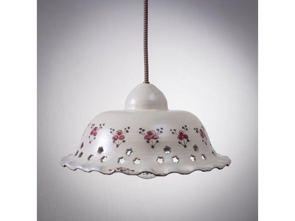 keramicky lustr velky lampa cervenka 01
