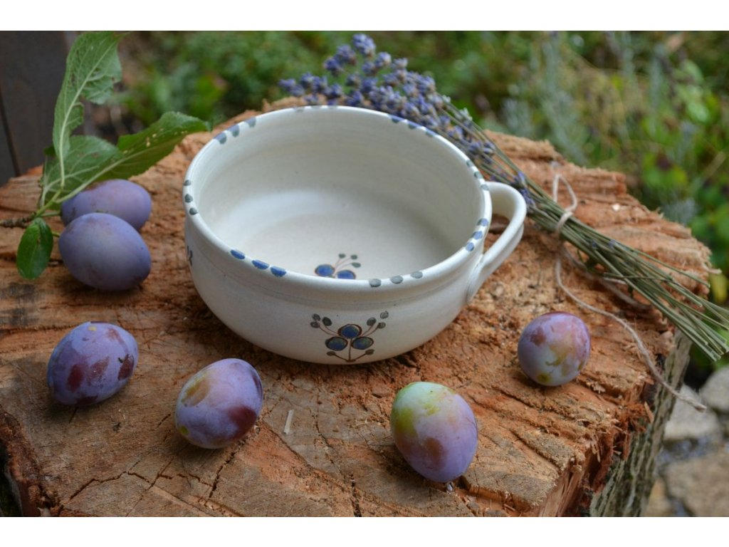 bujonka miska na polevku keramika Modrenka 03