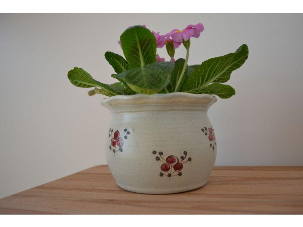 obaly na kvetinace keramicke cervenka 12