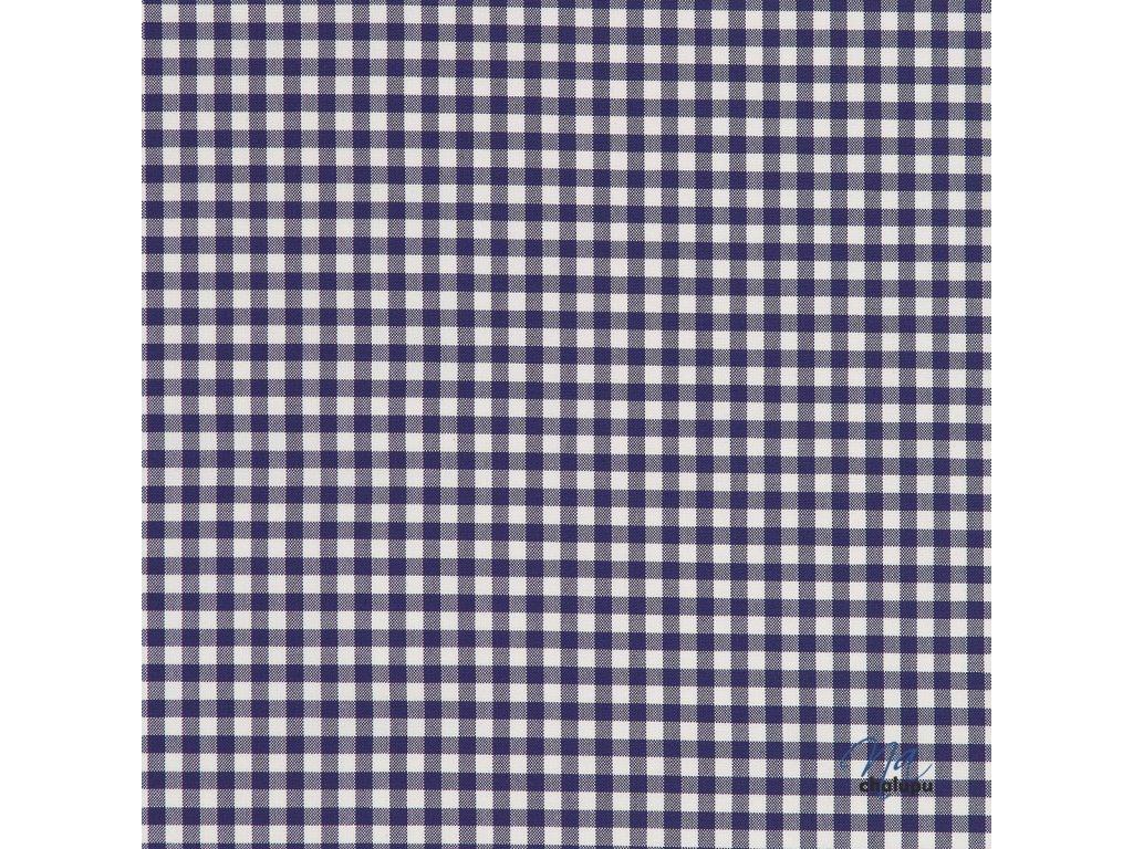 Kanafas bavlna modre karo kostky 5x5mm