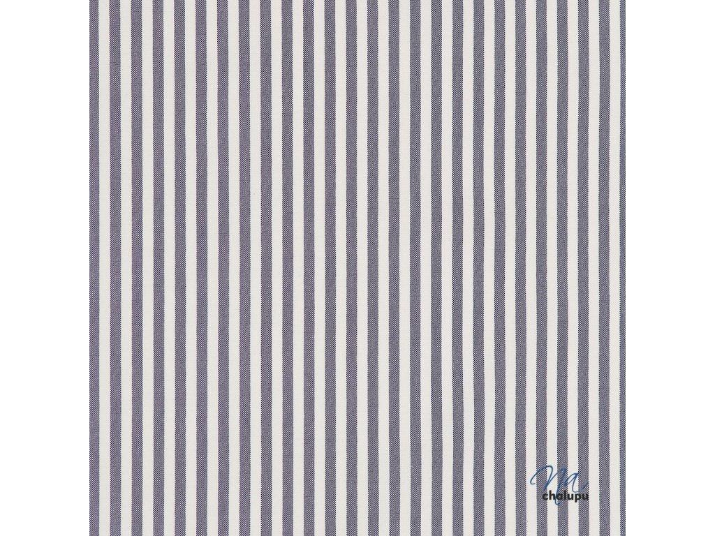 Kanafas bavlna modre pruhy 5mm