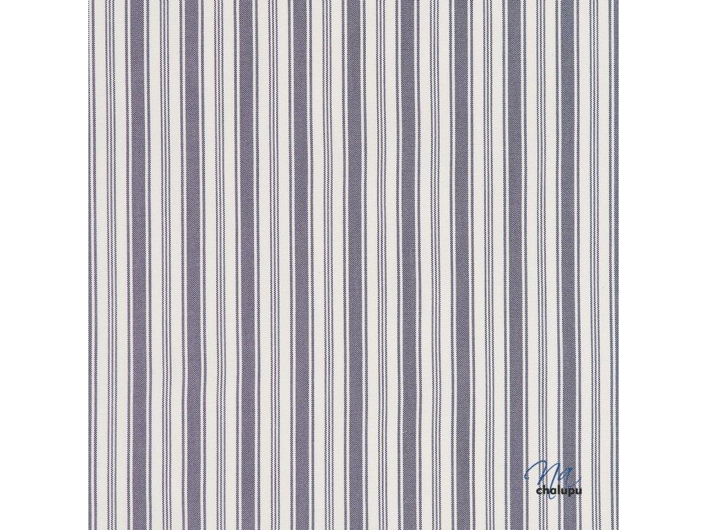 Kanafas bavlna modre pruhy kombinovane