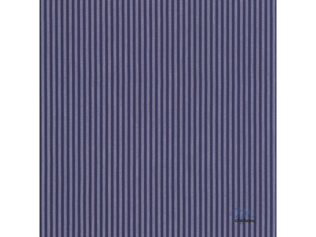 kanafas tmave modre prouzky 3mm 15