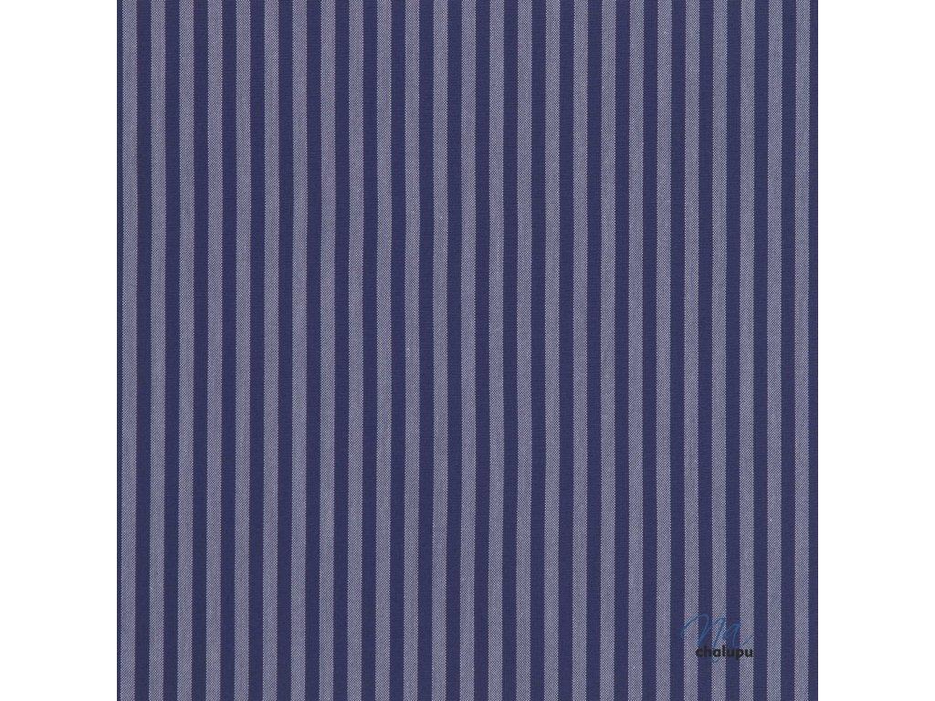 kanafas tmave modre prouzky 5mm 16