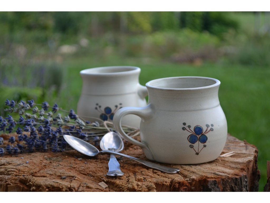 hrnky buclate keramika Modrenka 08
