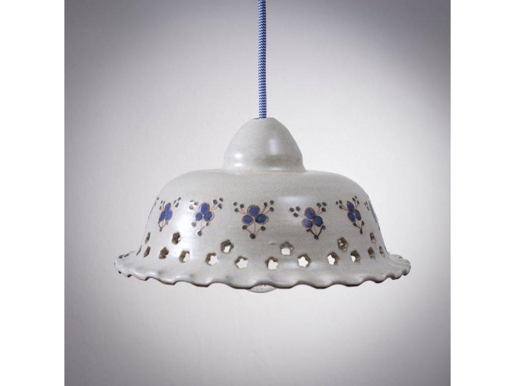 venkovske svitidlo keramicke modrenka velka 11