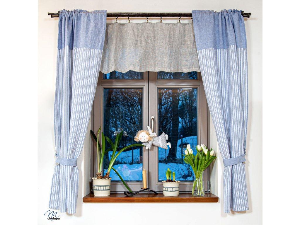 modre zavesy len kepr prouzky na chalupu IMG 3985