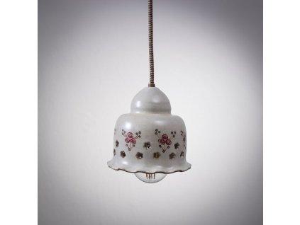keramicky lustr maly lampa cervenka 02