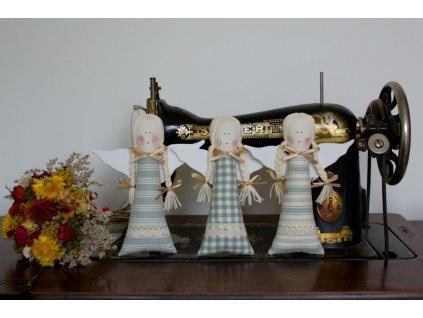 Andelka starozeleny kanafas sita dekorace DSC 0092