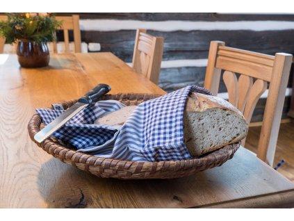 modry kanafas pytlik na chleba DSC 0187