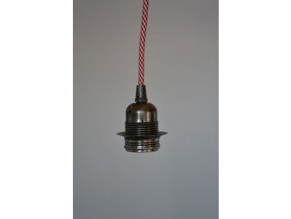 objimka starostribrna textilni kabel bilocerveny 01
