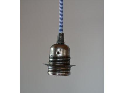 objimka starostribrna textilni kabel bilomodry 01