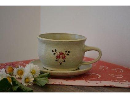 hrnek cappuccino keramicky Cervenka