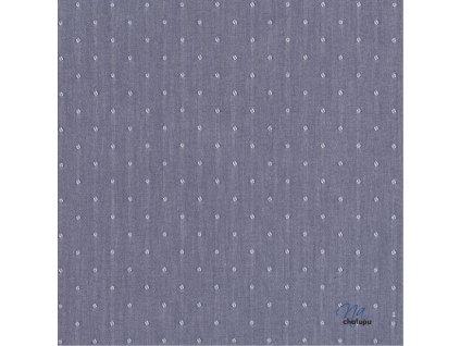 modre tkane puntiky svetle