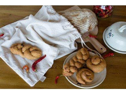 Režný sáček na chléb a pečivo