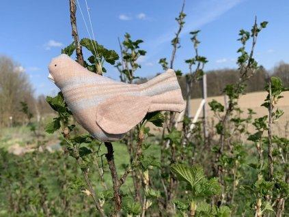 Ptáčci lnění SandStone - šitá dekorace