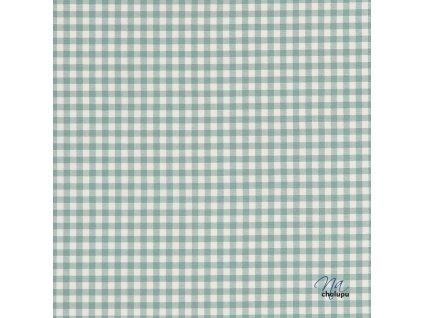 Kanafas bavlna zelene karo kostky 5x5mm
