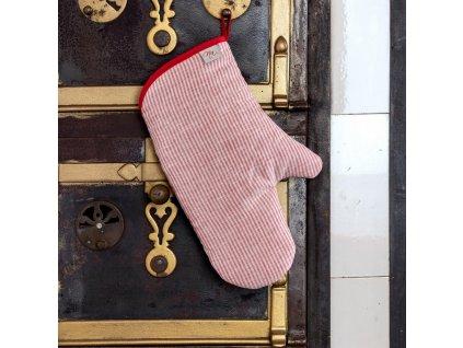 056 chnapka dlouha rukavice cerveny len nachalupu