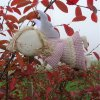 Andělka Růženka létací z růžového kanafasu