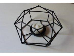 Geometrický svícen černý