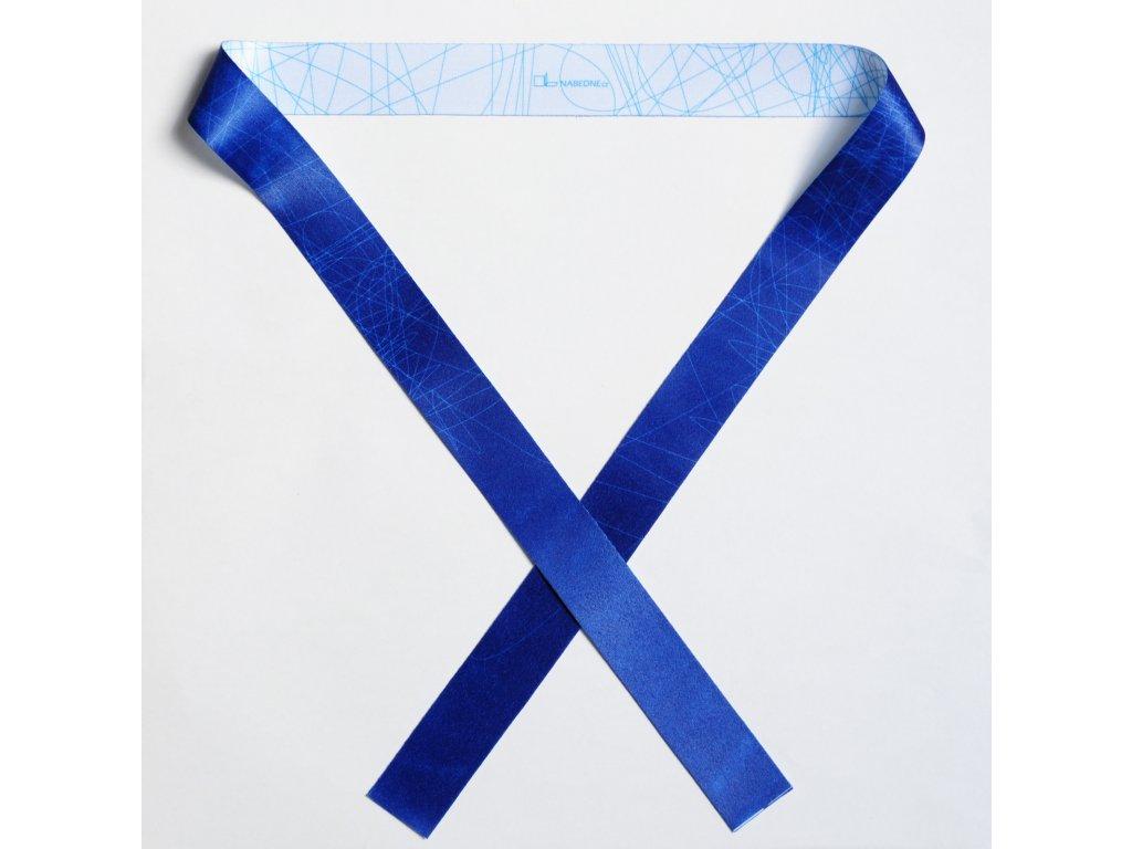 stuha BLUE LINE modrá bílá 01