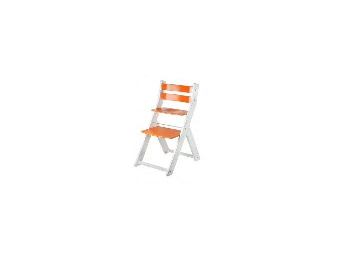 Rostoucí židle SANDY KOMBI -M05 bílá/oranžová s ergonomickým sedákem