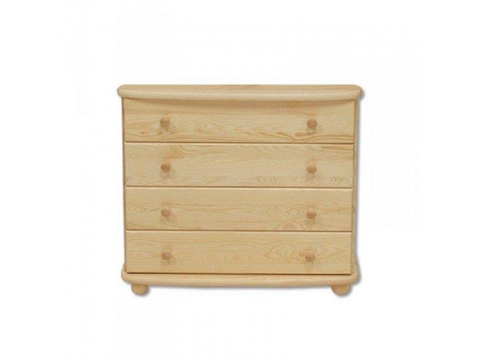 Dřevěná komoda 4 zásuvky masiv 147 z borovice