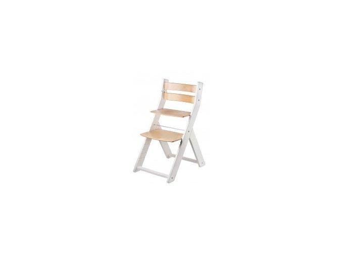 Rostoucí židle SANDY KOMBI -00 bílá/natur s ergonomickým sedákem