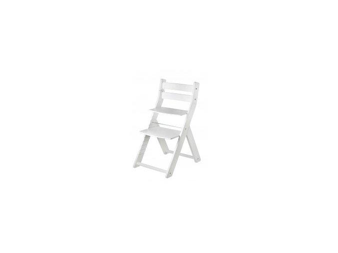 Rostoucí židle SANDY KOMBI -M07 bílá/bílá s ergonomickým sedákem