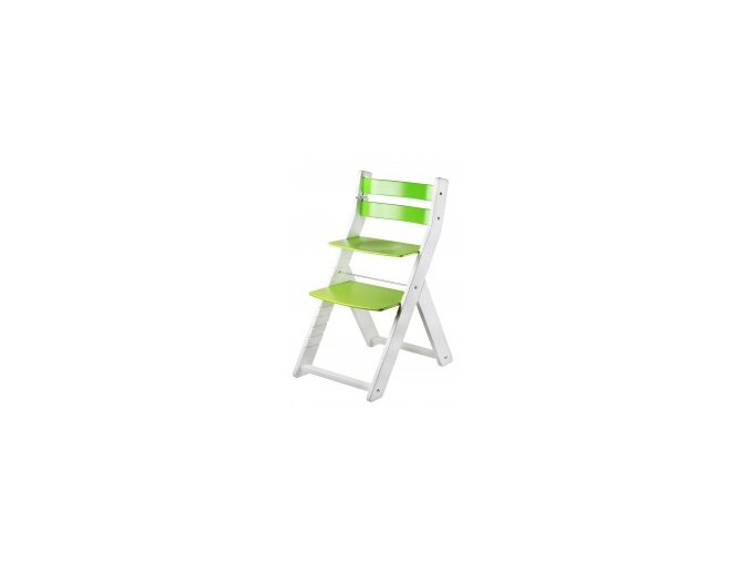 Rostoucí židle SANDY KOMBI -M02 bílá/zelená s ergonomickým sedákem