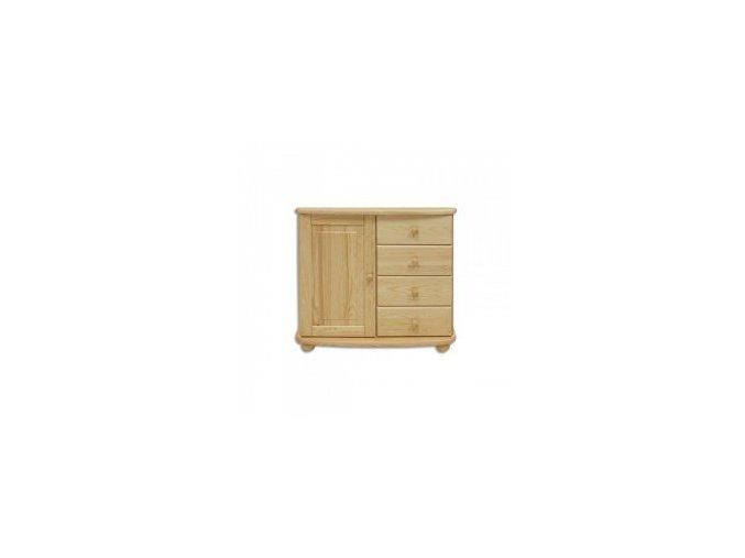 Dřevěná komoda masiv 140 borovice