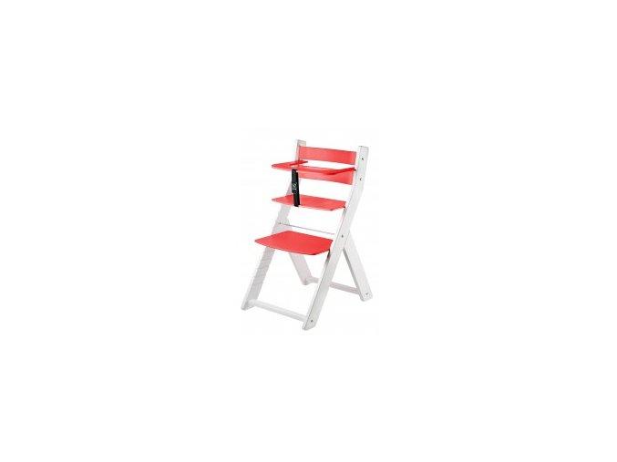 Rostoucí židle Luca kombi -L04 bílá/červená s ergonomickým sedákem