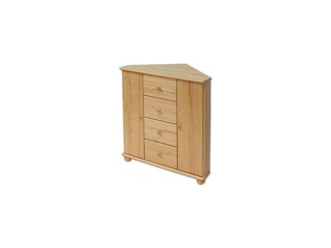 Dřevěná rohová komoda masiv 134 z borovice