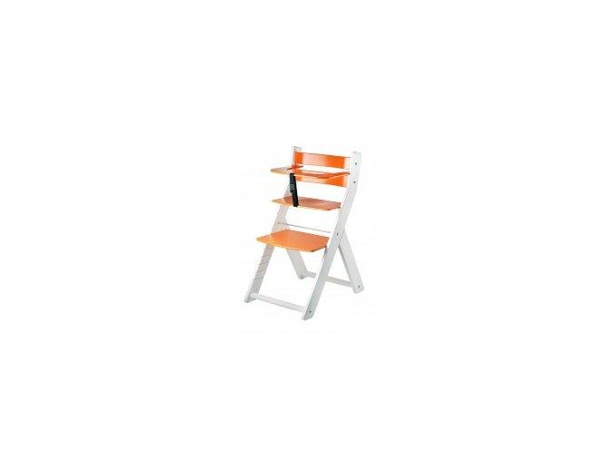Rostoucí židle Luca kombi -L05 bílá/oranžová s ergonomickým sedákem