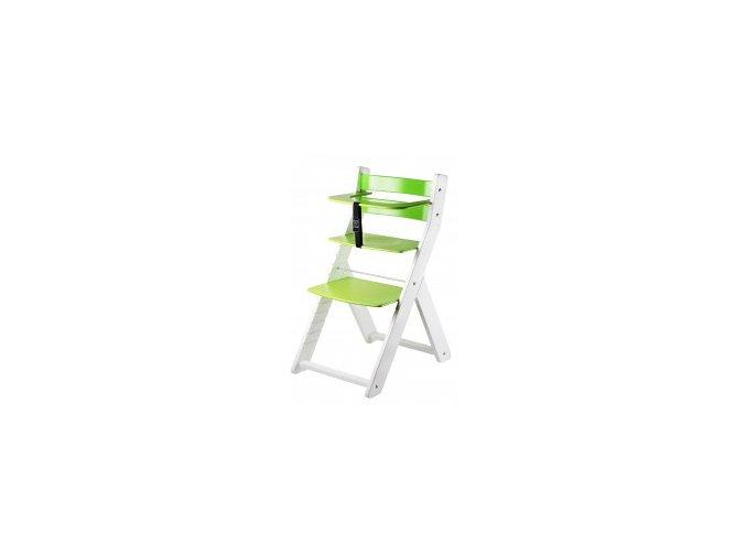 Rostoucí židle Luca kombi -L02 bílá/zelená s ergonomickým sedákem