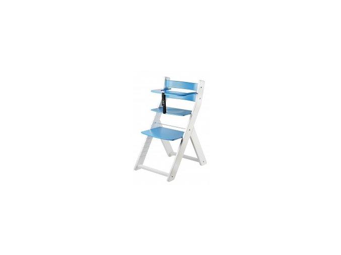 Rostoucí židle Luca kombi -L03 bílá/modrá s ergonomickým sedákem