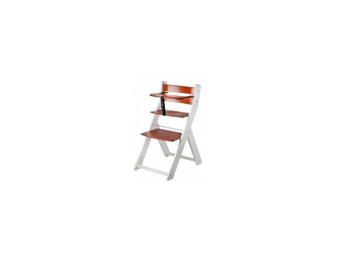 Rostoucí židle Luca kombi -002 bílá/třešeň s ergonomickým sedákem