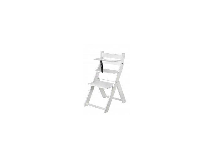 Rostoucí židle Luca kombi -L07 bílá/bílá s ergonomickým sedákem