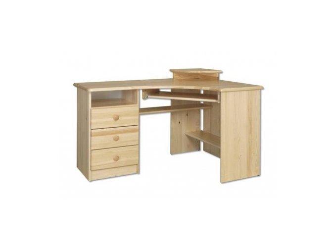 Rohový psací stůl MASIV 108 z borovice