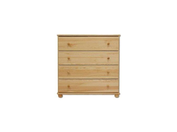 Masivní dřevěná komoda 4 zásuvky masiv 119