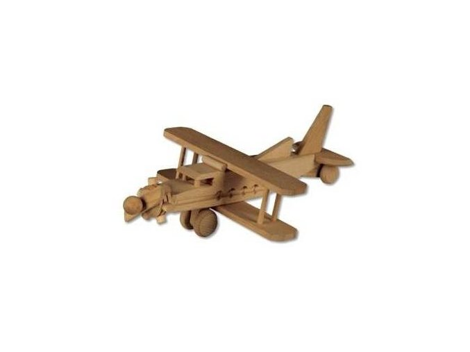 Dřevěná hračka -letadlo dvojplošník D113
