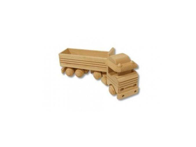 Dřevěná hračka kamion s vlekem D110