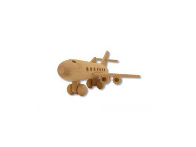 Dřevěná hračka cestovní letadlo D109