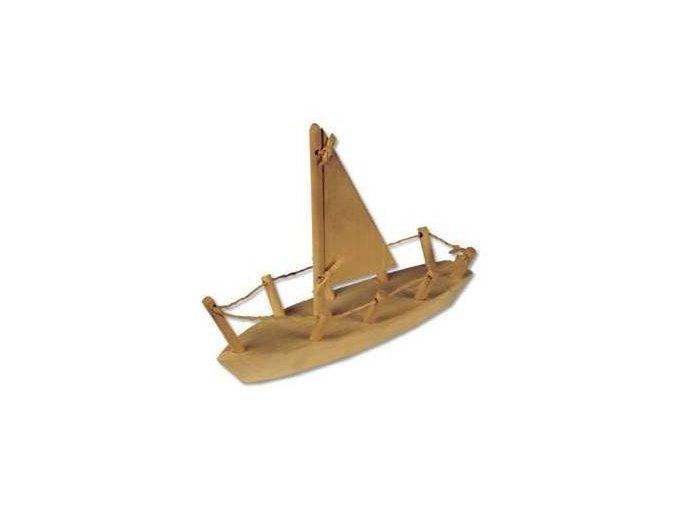 Dřevěná hračka lod-plachetnice D108