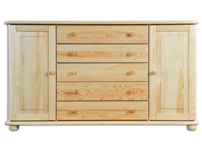 Velká dřevěná komoda masiv 164 borovice masiv