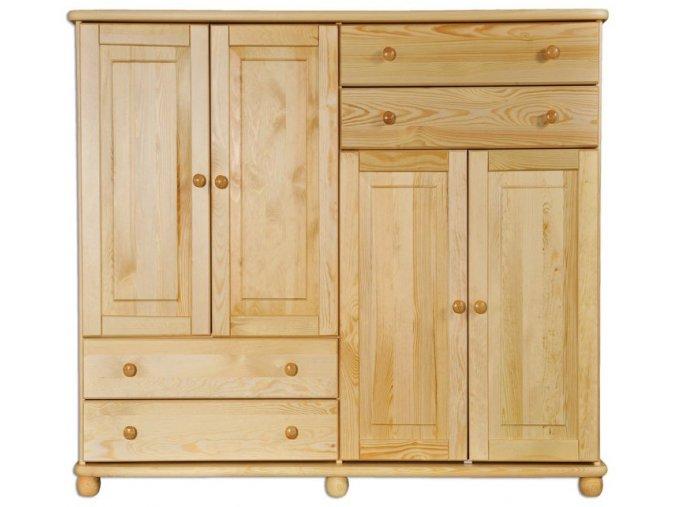 Masivní dřevěná komoda masiv 167